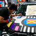 Custom car artist Juan Pineda