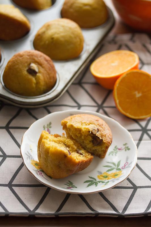 Fresh Orange and Date Muffins