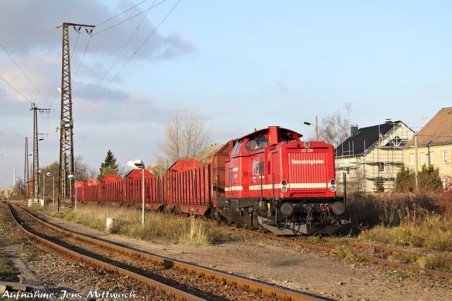 213 339-5 Rennsteigbahn Großkorbetha 20.11.2010