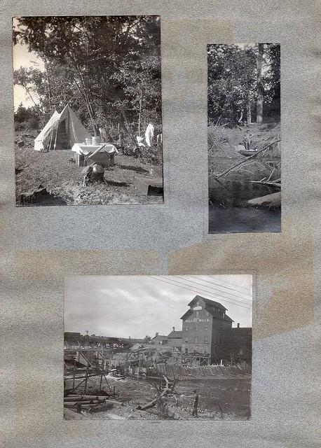 Edwardian Fishing / Camping Album, Wisconsin Dells, H H Bennett Photography