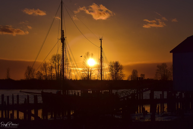 Sunset at Britannia Heritage Shipyards National Historic Site