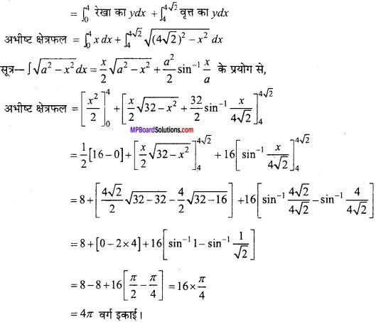MP Board Class 12th Maths Important Questions Chapter 8 समाकलनों के अनुप्रयोग img 27a