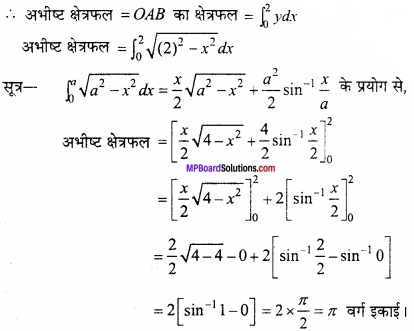MP Board Class 12th Maths Important Questions Chapter 8 समाकलनों के अनुप्रयोग img 26a
