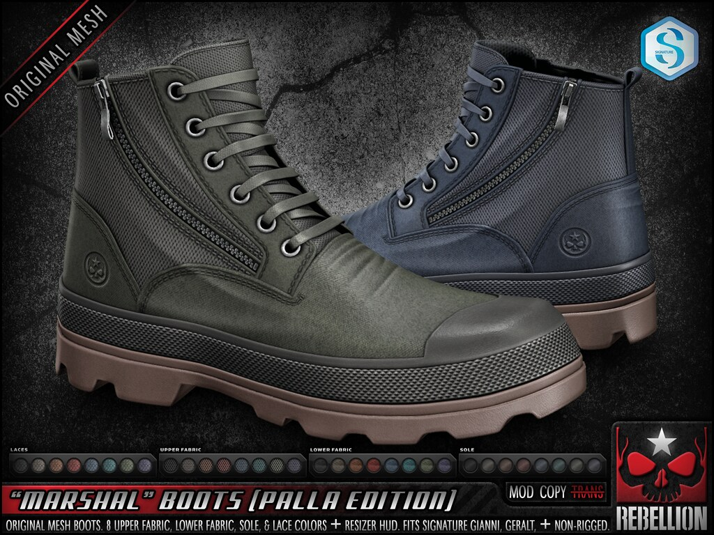 "= REBELLION = ""MARSHAL"" BOOTS (PALLA EDITION)"