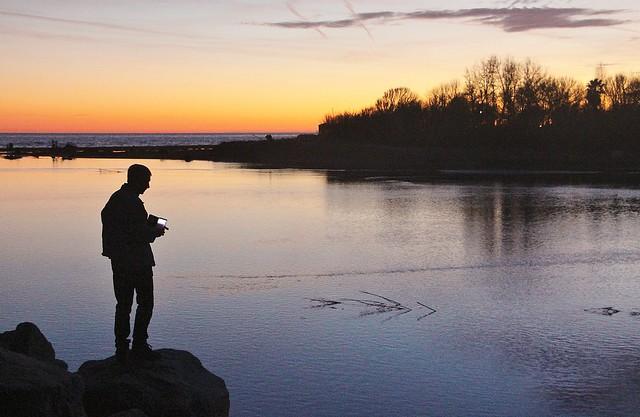Congelant el moment. Delta del riu La Tordera.
