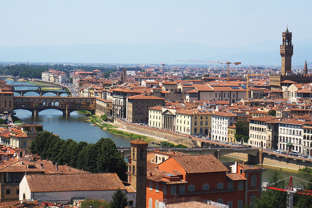 Florence from Oltrarno, Tuscany, Italy