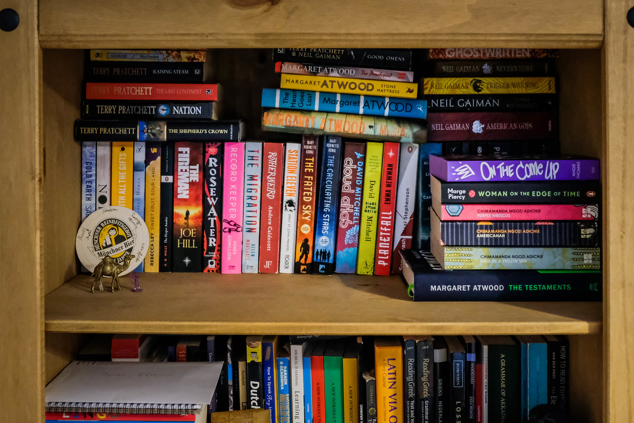 Fiction & science-fiction section of the bookcase
