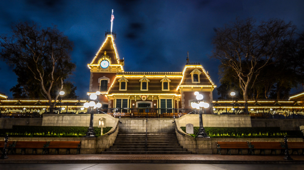Main Street Train Station DL night