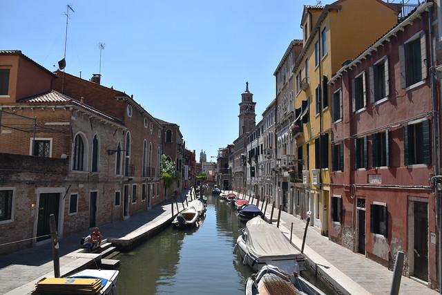 Quiet streets in Venice, Italy