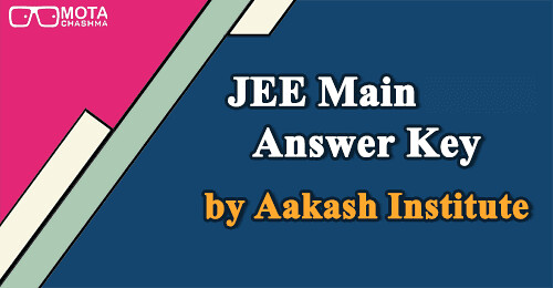 JEE Main 2020 Answer Key by Aakash Institute
