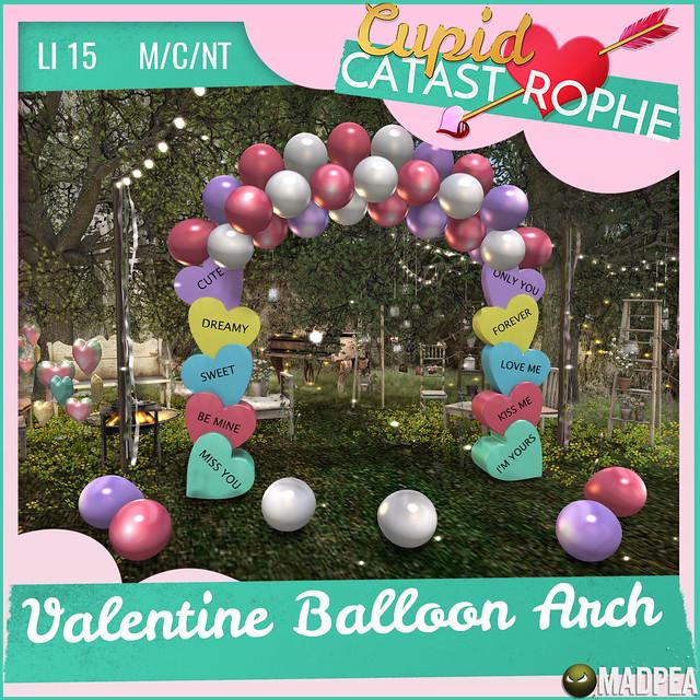 MadPea's Cupid Catastrophe Prize Unlock: MadPea's Valentine Balloon Arch!
