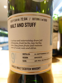 SMWS 72.84 - Malt and stuff