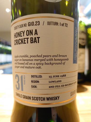 SMWS G10.23 - Honey on a cricket bat | by philipstorry