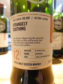SMWS 30.109 - Strangely soothing