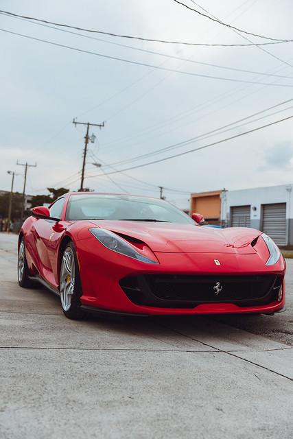 Ferrari 812 Superfast Paint Protection Film & Ceramic Pro Gold