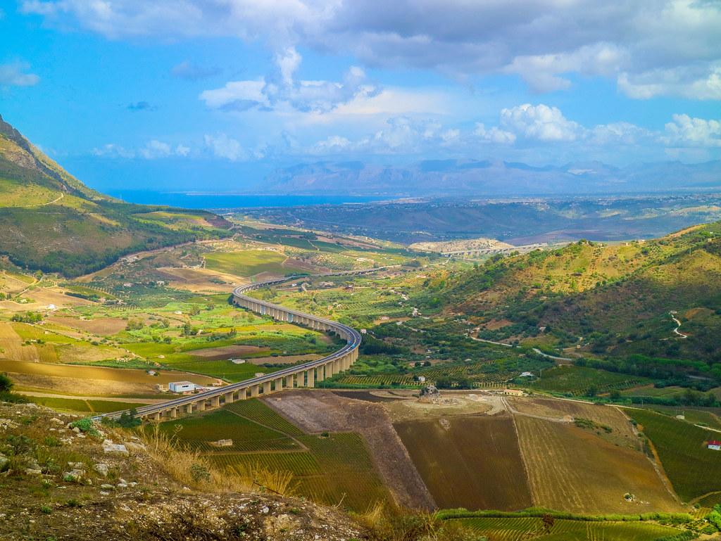 Vistas del interior de Sicilia