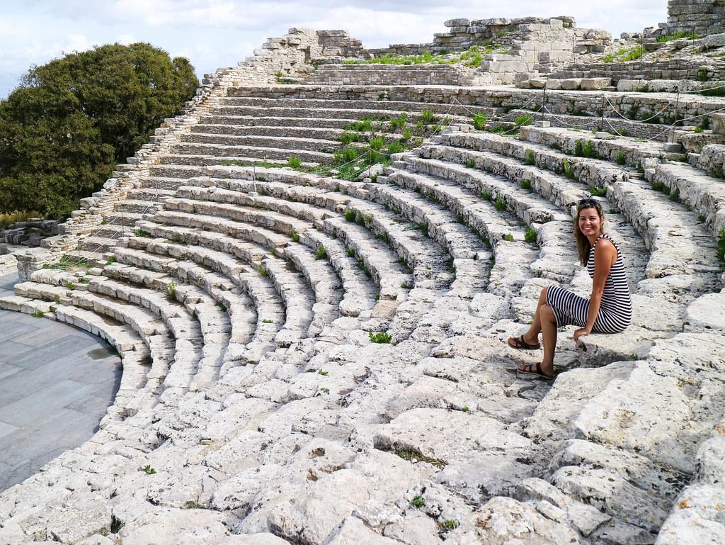 Teatro griego de Segesta en Sicilia