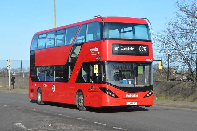 LJ19 CVT (BDE2643) Metroline London