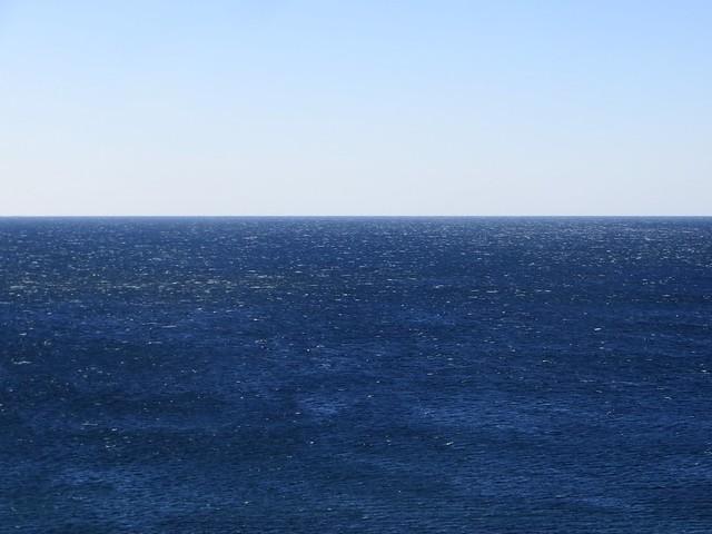 windy winter blue