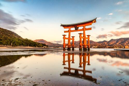 torri japan water see tide sunset itsukushimajinja itsuku ngc