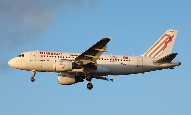 TS-IMQ Airbus A319-112 Tunisair