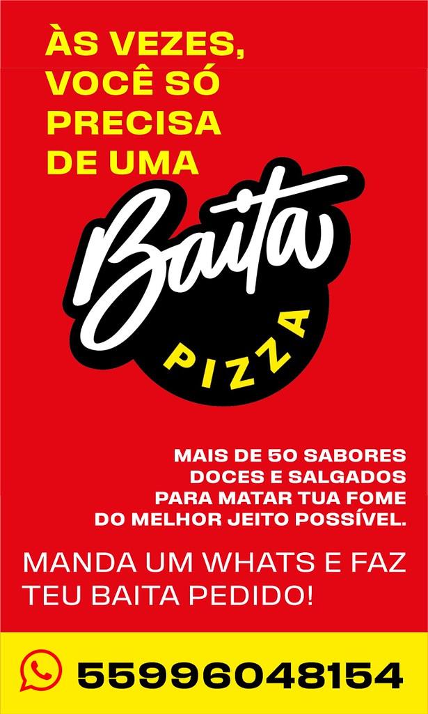 Para matar sua fome, pede uma Baita Pizza em São Gabriel! Clique aqui e saiba mais!