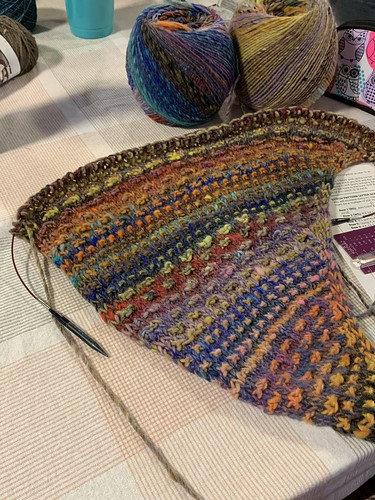 Bev's Nightshift WIP for our Wednesday KAL