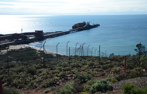 DSC_0840 jetty, Whyalla Steelworks, from Hummock Hill Lookout, Whyalla, South Australia | by JohnJennings995