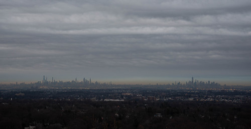 nyc skyline city cityscape newyork new york landscape morning sunrise cloud cloudy hdr eaglerock reservation nj newjersey