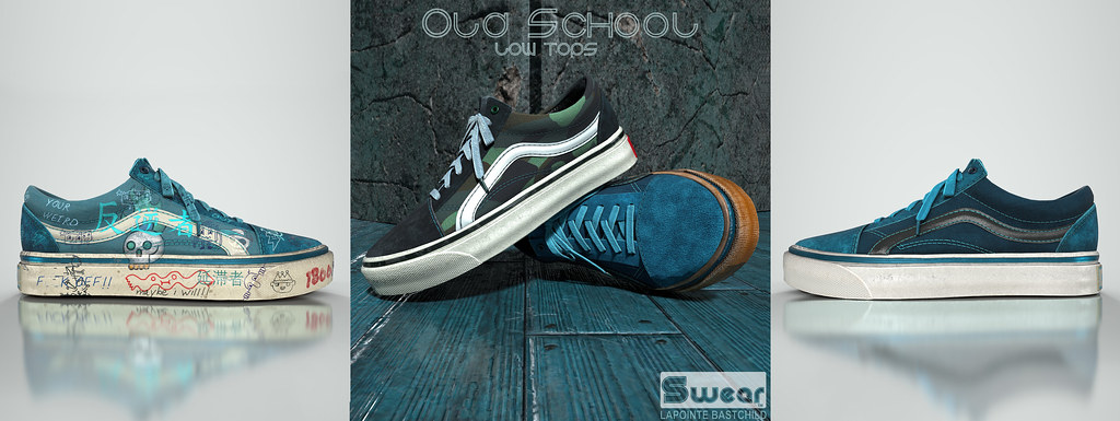L&B @TMD:FEB Swear Old School Low Tops!