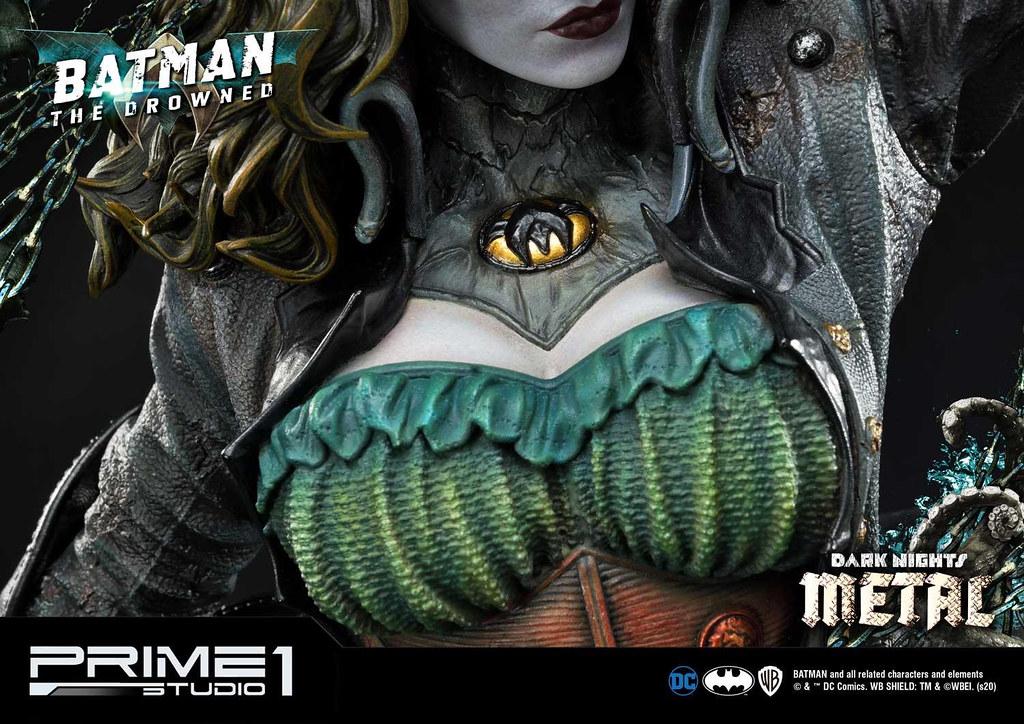 散發出如同鬼魅般的陰森氣息!Prime 1 Studio《Dark Nights: Metal》蝙蝠俠-溺斃者 ドラウンド MMDCMT-03 1/3 比例全身雕像 普通版/DX版