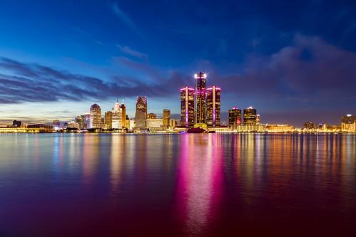 Detroit's pink fire