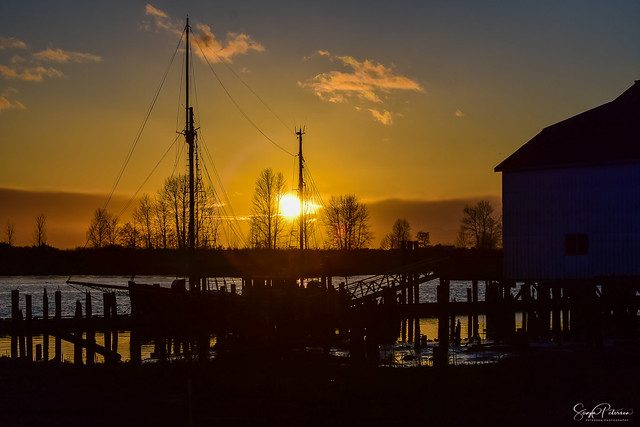 Sunset at Britannia Heritage Shipyards National Historic Site