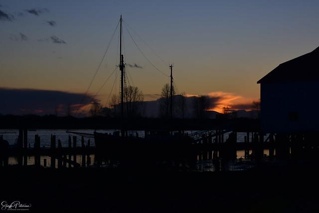 Sunset at Britannia Heritage Shipyards (Explored)