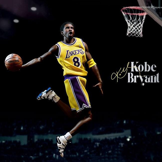 紀念永遠的黑曼巴!ENTERBAY NBA系列 Real Masterpiece「Kobe Bryant 柯比‧布萊恩  小升級再版」1/6 比例 雙人偶作品