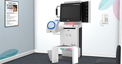 Artist's impression of the HiDoc telehealth kiosk, which will be showcased to the public when OLÁ opens its show gallery 15 February.