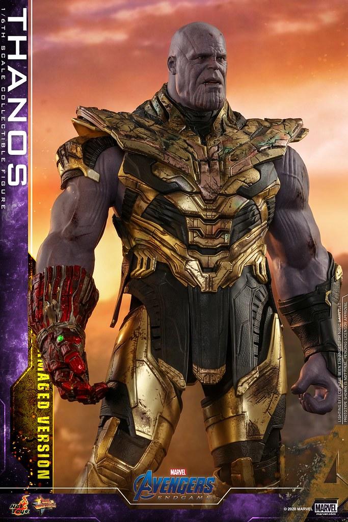 情緒狀態反差極大的雙頭雕! Hot Toys – MMS564 -《復仇者聯盟:終局之戰》薩諾斯(戰損版) Thanos (Battle Damaged Version) 1/6 比例人偶