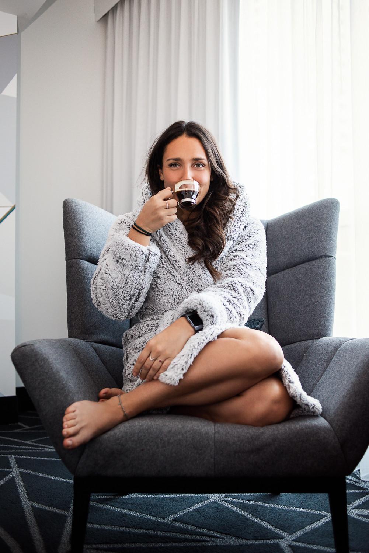 camille dg robe de chambre café