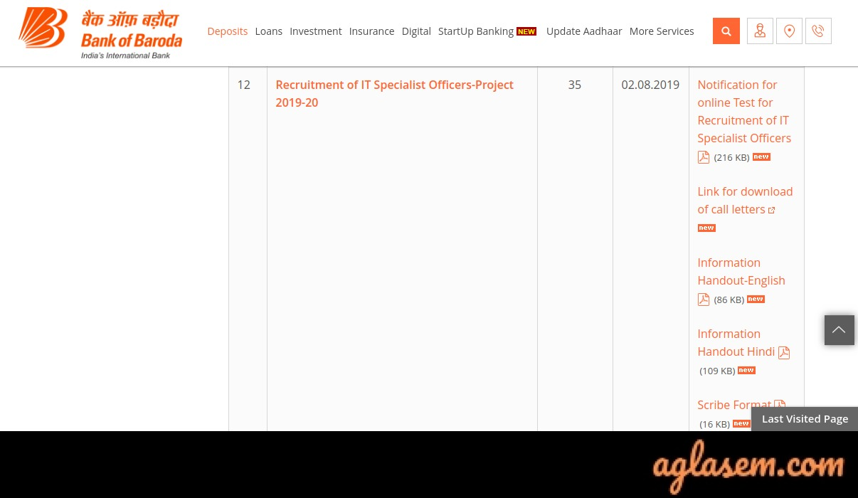 Bank of Baroda Specialist IT Officer Exam Call Letter 2020 Out; Exam on 22 Feb