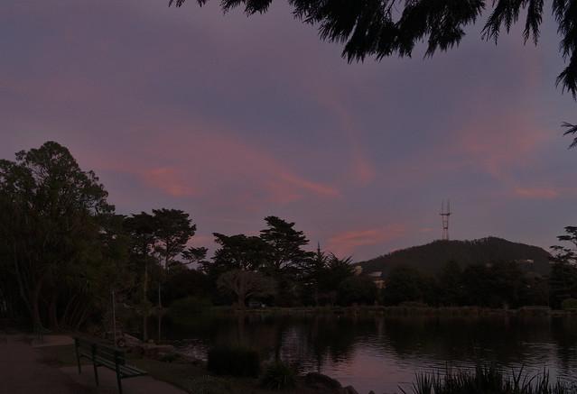 Evening Skies at Stow Lake