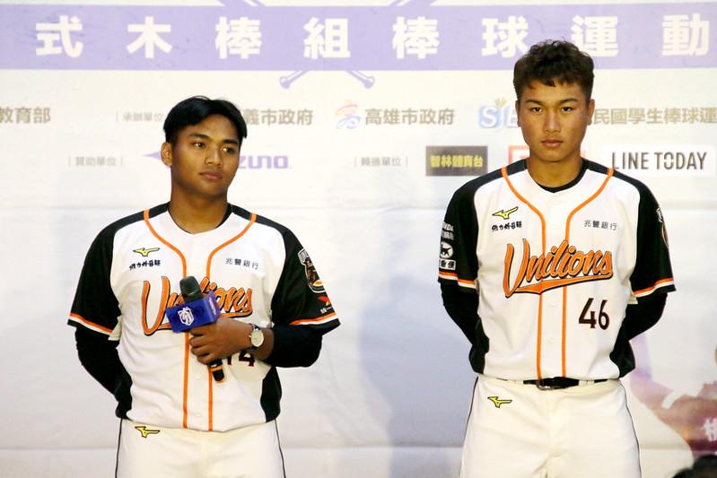 邱智呈(左)、羅暐捷(右)。(圖/學生棒聯提供)