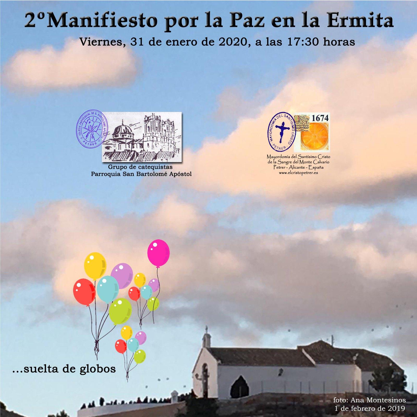ElCristo - Actos - II Manifiesto por la Paz - (2020-01-31) - Cartel--