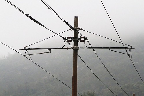 Overhead wires at Pui To station