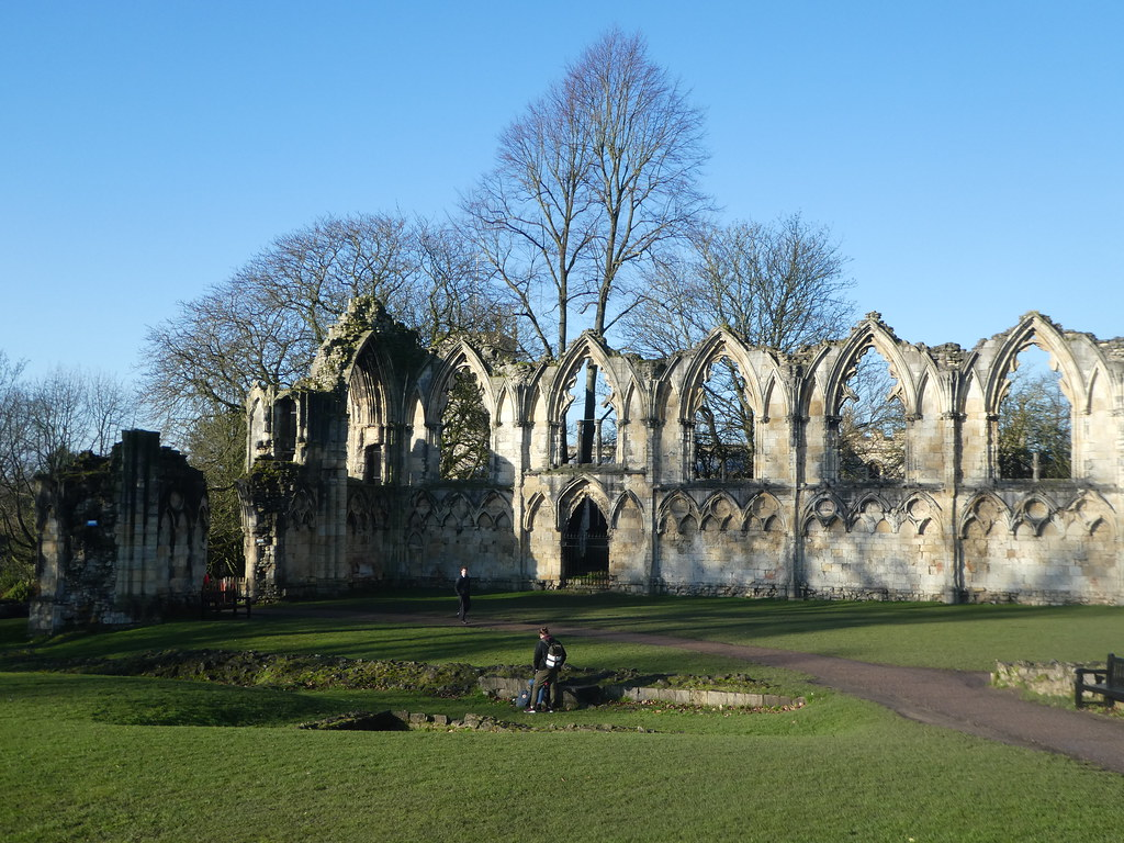 The ruins of St. Mary's Abbey, York