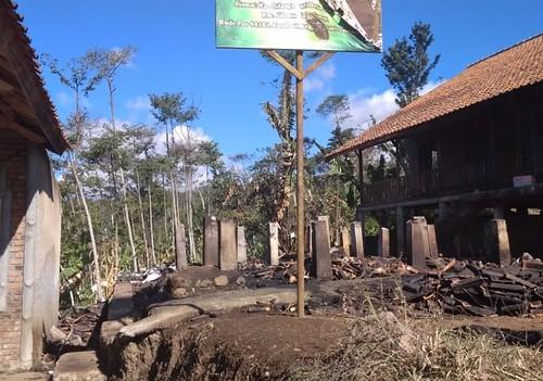 Kondisi ruang kelas yg terbakar tahun 2019