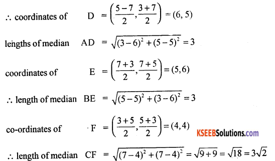 1st PUC Basic Maths Question Bank Chapter 15 Co-ordinate System in a plane - 11