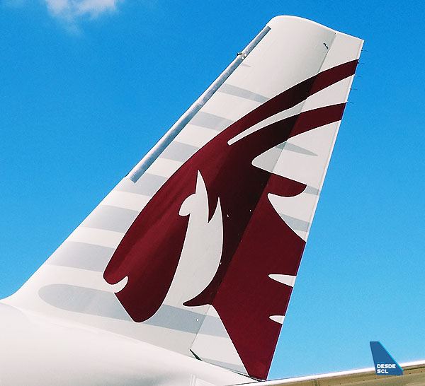 Qatar Airways A350 tail (RD)
