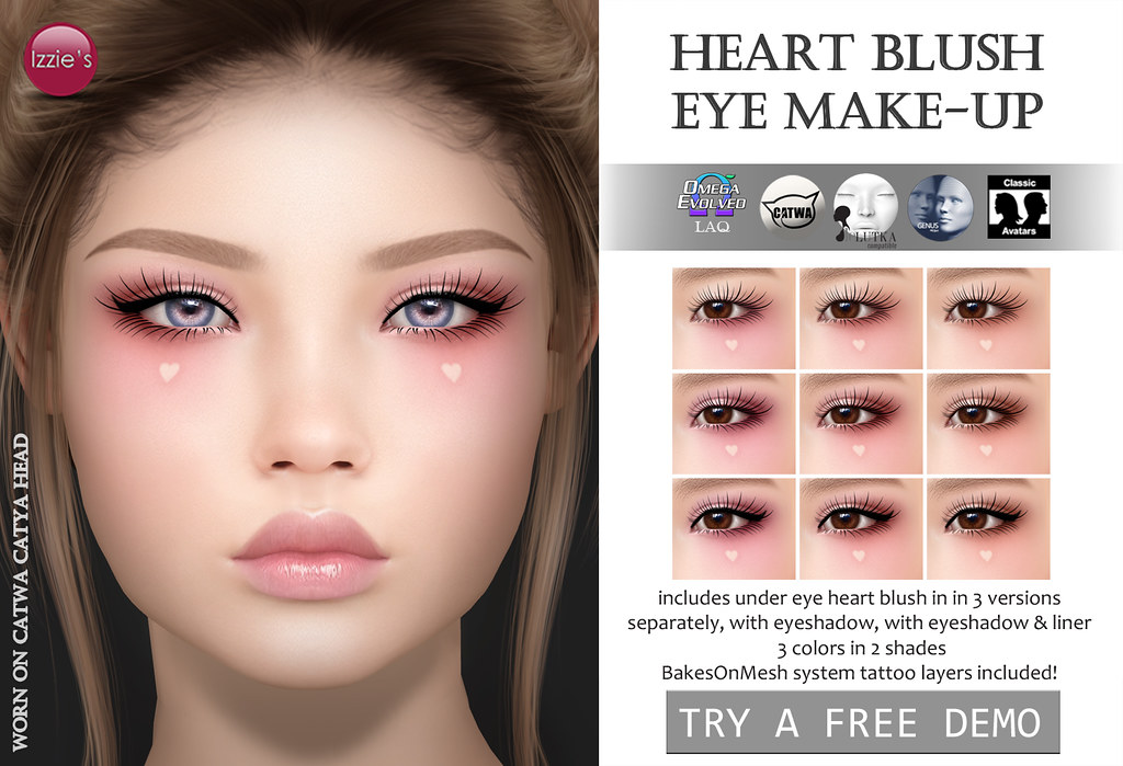 Heart Blush Eye Make-Up (Cupid Inc.)
