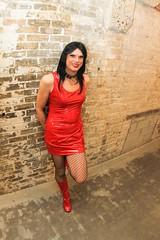 Red PVC Dress 3
