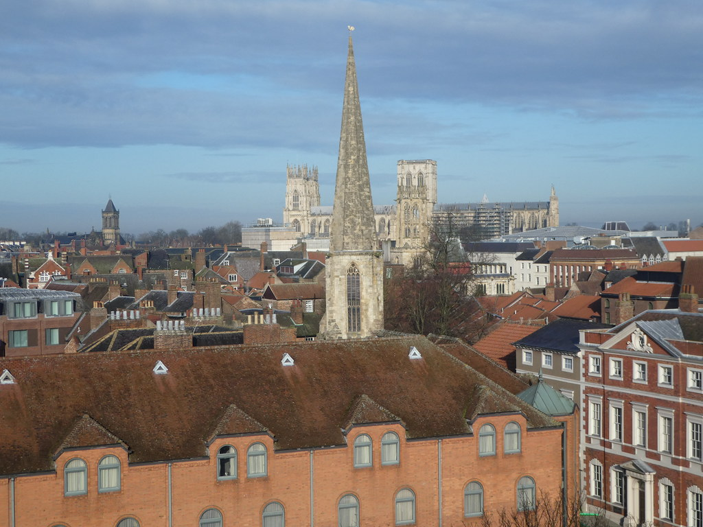 Views from the top of Cliffords Tower, York